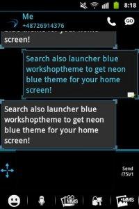 Ice Minimal Theme GO SMS Pro