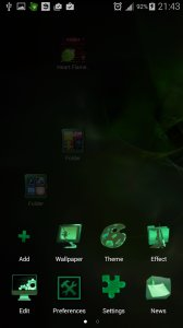 Launcher 2018 Green Flame GO theme