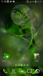 ? Launcher 2018 Green Flame GO theme