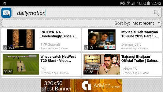 Video Search for Dailymotion