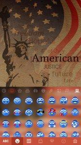 American Emoji Kika Keyboard