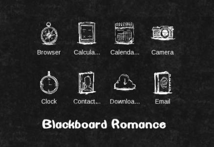 Cute Love Black & White Theme