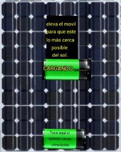Cargador solar  bateria broma