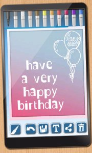 Design birthday cards