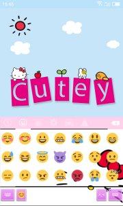 Emoji Keyboard-Cutey