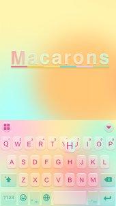 Macarons Emoji Keyboard Theme