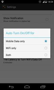 WiFi/Data Auto Off|On