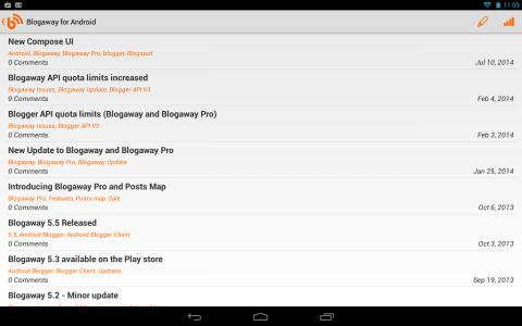 Blogaway for Android (Blogger) Android App APK (com beanie