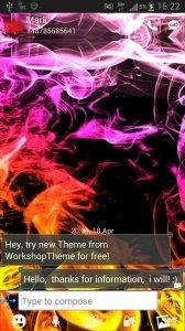 GO SMS Theme Smoke Colors