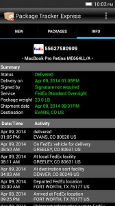 Package Tracker Express