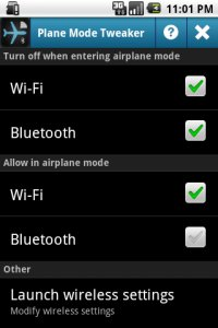 Plane Mode Tweaker