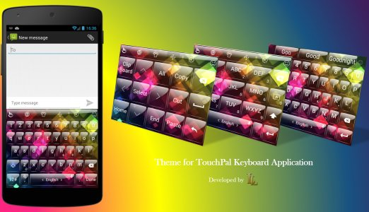 Keyboard Theme Glass Rainbow 2