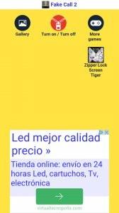 pantalla de bloqueo cremallera de color amarillo