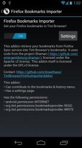 Firefox Bookmarks Importer