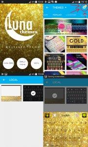 Gold Shine - Theme for keyboard