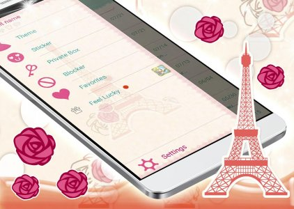 GO SMS Paris Love