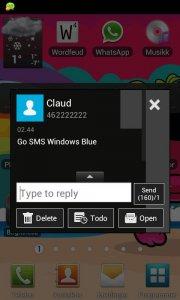 GO SMS Windows Blue