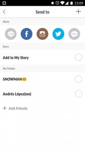SNOW Selfie Motion sticker