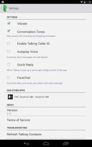 Talkrayโทรศัพท์ ส่งข้อความ และ