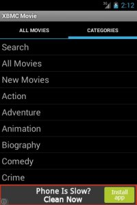 XBMC Cine Player Android