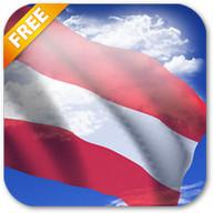 3D Austria Flag Live Wallpaper