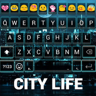 City Life Emoji Keyboard Theme