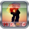 Cute Couple Kiss GO Locker Theme