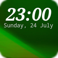 DIGI Clock Widget - Set of five digital widgets with customizable time and date