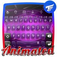 Digital purple Keyboard Animated