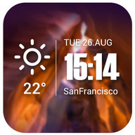 Live weather & Clock Widget