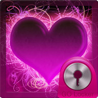 GO Locker Themes Hearts - A hot pink heart to decorate your GO Locker