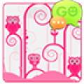 GO SMS Pink Owl Theme