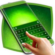 Green Galaxy Keyboard Theme