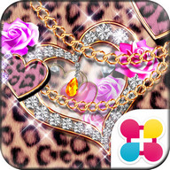 Leopard Hearts Wallpaper Theme