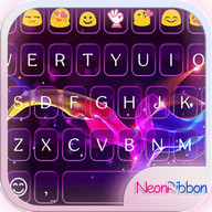 Neon Ribbon Emoji Keyboard