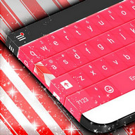 Pink Keyboard Candy GO - A bubblegum-pink theme for your GO Keyboard