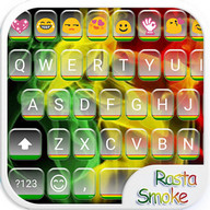 Rasta Smoke Emoji Keyboard