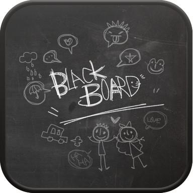 Blackboard go launcher theme