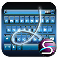 SlideIT Blue Metal Skin