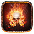 The flame skull