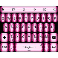 Keyboard Theme Glitter F Pink