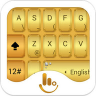 TouchPal Gold Keyboard Theme