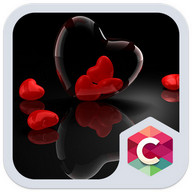 Romantic Hearts Theme: Red Color Black heart Love