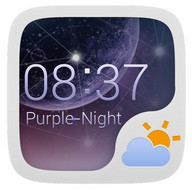 Widget Purple Night Style GO Weather EX