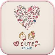 Cute couple go launcher theme