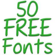 Fonts for FlipFont 50 23