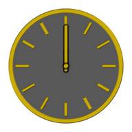 Glossy Analog Clock Widgets