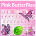 GO Keyboard Pink Butterflies Theme