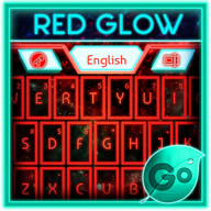 GO Keyboard Red Glow Theme