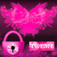 Theme Pink Hearts GO Locker